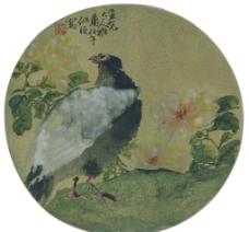 齊白石 折枝花卉扇面圖片