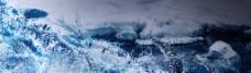 北极熊 雪景插画背景素材