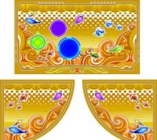金黄色彩板图片