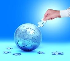地球商务科技拼图