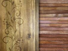 木雕背景03—高清图片