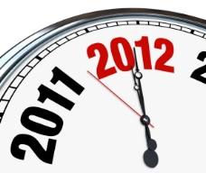 新年时钟背景—高清图片
