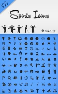 体育运动类图标模板合辑矢量素材