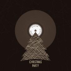 圣诞树背景01——矢量素材