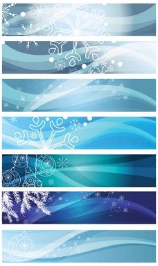 雪花背景横幅——矢量素材