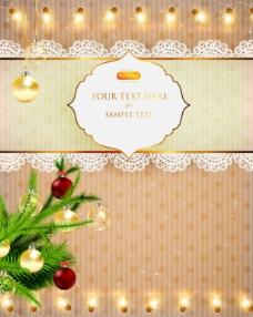 璀璨的圣诞灯光背景04——矢量素材
