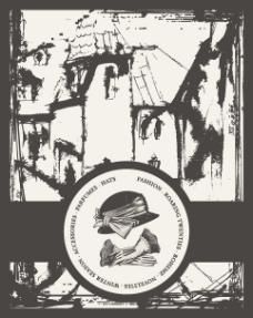 欧式复古标签背景04—矢量素材