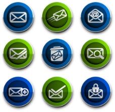 邮件主题图标矢量素材-2