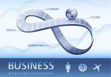 商务科技模板矢量素材-1