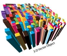 3D柱形设计矢量素材