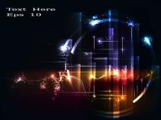 璀璨光效背景01—矢量素材