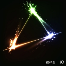 璀璨星光背景02—矢量素材