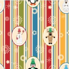 卡通圣诞节图案背景01——矢量素材