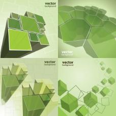 动感方块特效——矢量素材