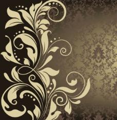 欧式花纹背景05—矢量素材