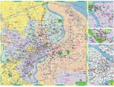 超级详细的矢量上海地图街道标志建筑都有PDF
