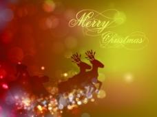 梦幻圣诞背景矢量素材-1