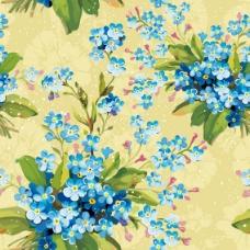 鲜花背景05—矢量素材