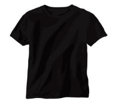 黑色T-shirt矢量素材