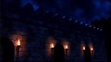 欧式外墙的动态背景