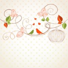 精美花朵背景04-矢量素材