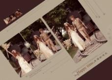 婚纱展板模板下载