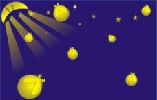 萤火虫 星空图片