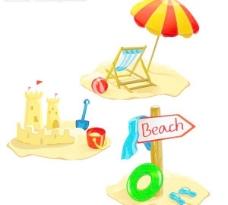 沙滩 沙城堡图片