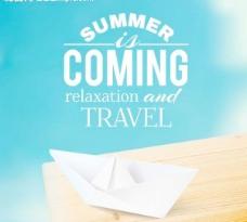 夏季旅游 纸船图片