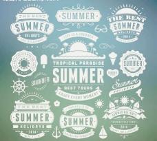 夏天图标夏季旅游图片
