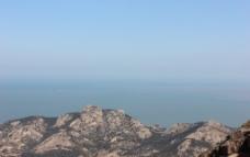 锥山 大海 石头图片