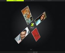 三维超酷的flash+xml全站模板