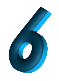 3d 數字 6
