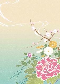 日系风格色彩背景-63高清图片
