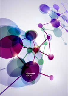炫彩分子矢量图