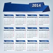 2014日历矢量素材