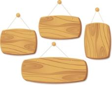 精美木板吊牌04—矢量素材
