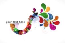抽象的彩色背景矢量插图