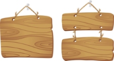 精美木板吊牌03—矢量素材