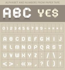 折纸创意字母02—矢量素材