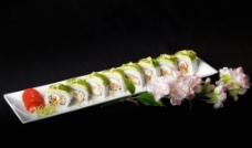 软壳蟹牛油果寿司图片