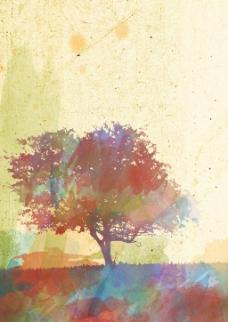 唯美背景树