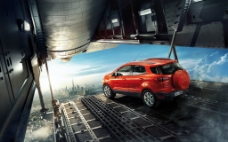 酷旋的金属感画面强烈的汽车图