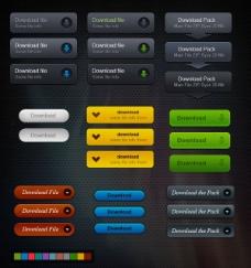 精致网页下载按钮—psd分层素材