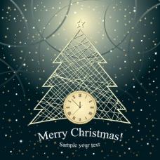 圣诞树背景03——矢量素材