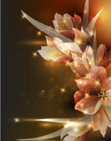 梦幻花卉背景设计矢量素材1