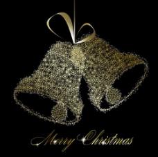 精美圣诞铃铛背景04——矢量素材