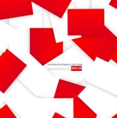 多彩卡纸背景设计矢量素材-2