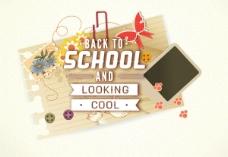 开学季创意海报07—矢量素材