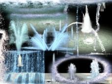 室外喷泉素材